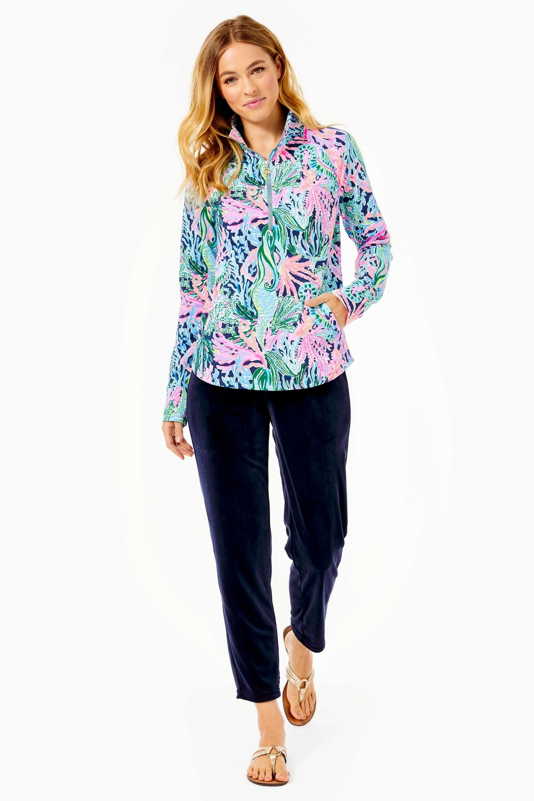 Lilly Pulitzer Upf50+ Skipper Popover - Side Cropped Image