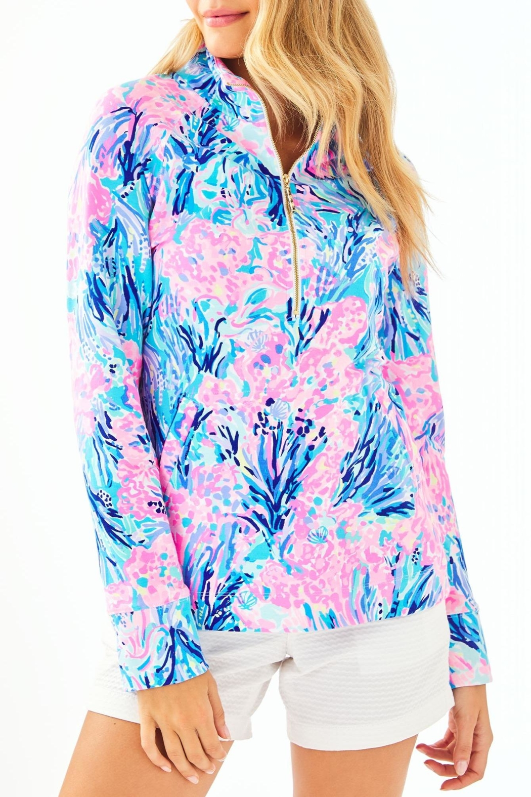 Lilly Pulitzer Upf50+ Skipper Popover - Front Cropped Image