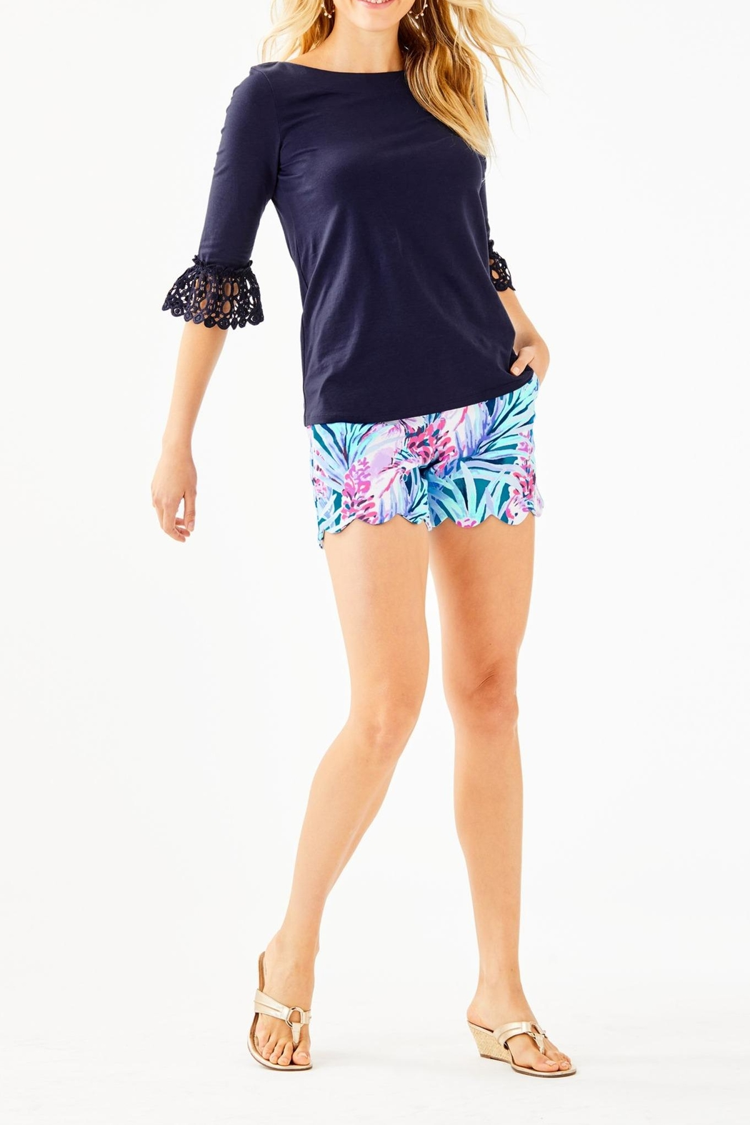 Lilly Pulitzer Waverly Top - Side Cropped Image