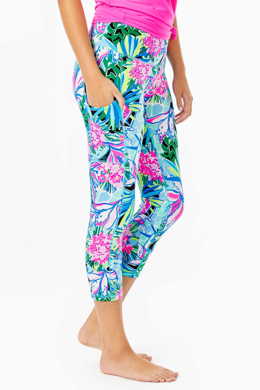 Lilly Pulitzer Weekender Crop Legging - Side Cropped Image