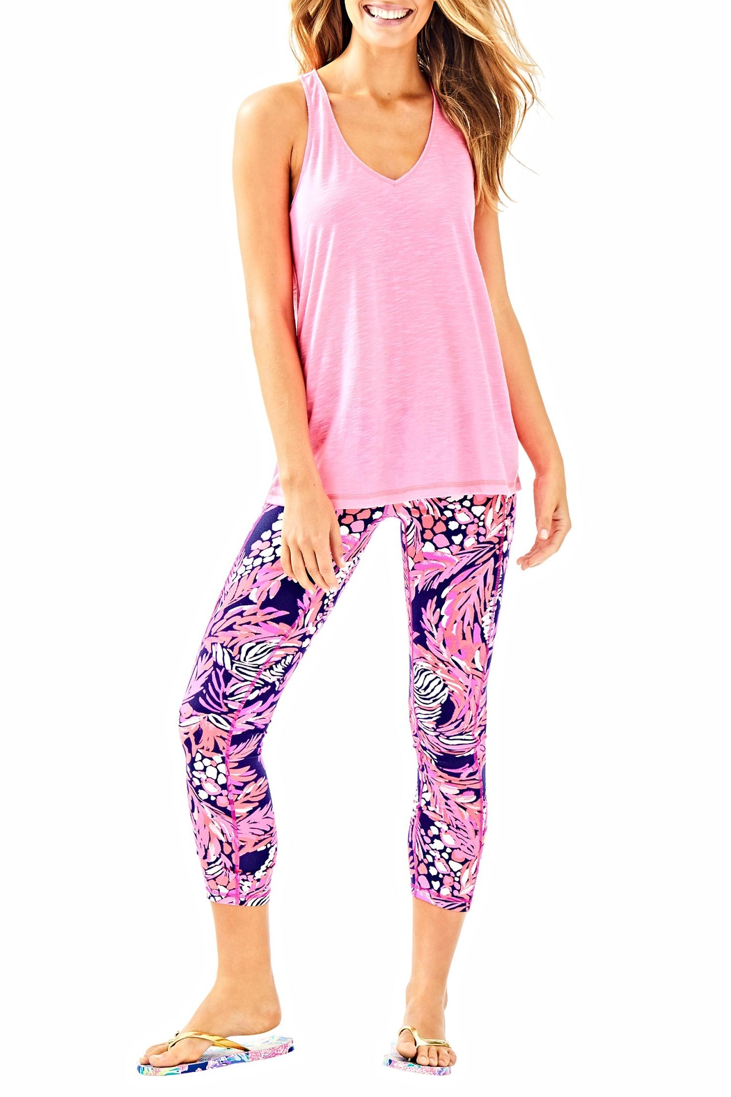 Lilly Pulitzer Weekender Cropped Leggings - Back Cropped Image