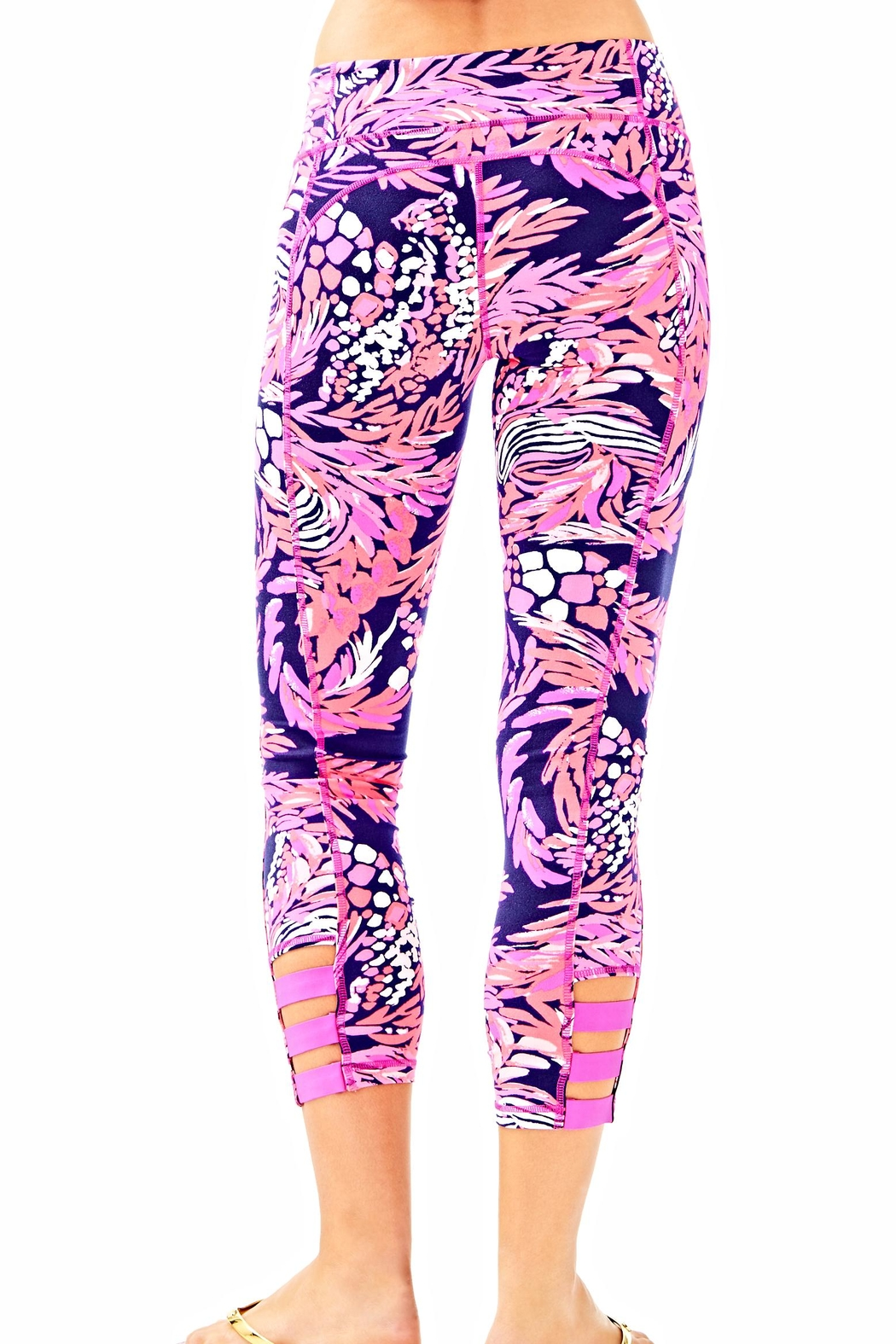 Lilly Pulitzer Weekender Cropped Leggings - Front Full Image