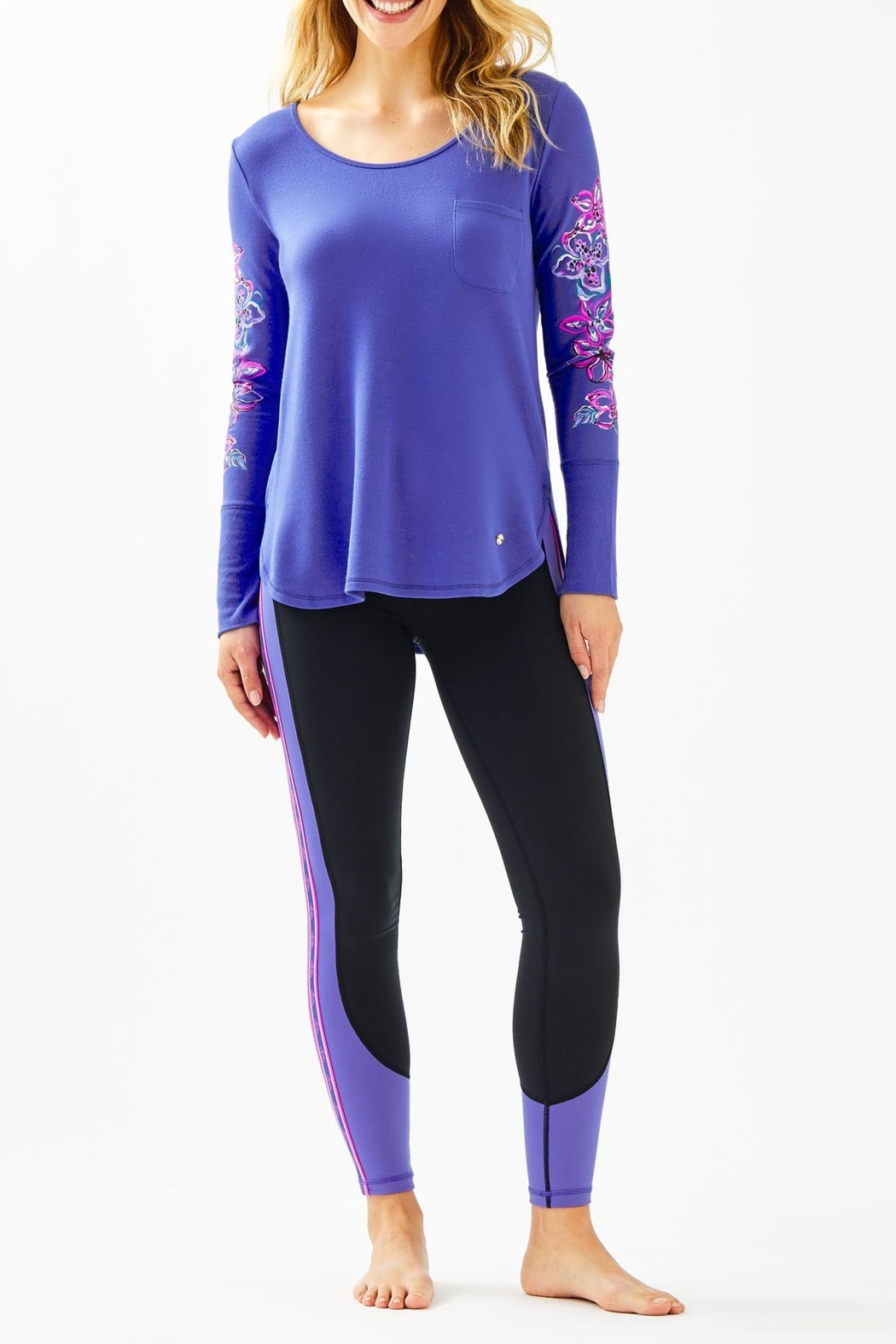 Lilly Pulitzer Luxletic Weekender Legging - Back Cropped Image