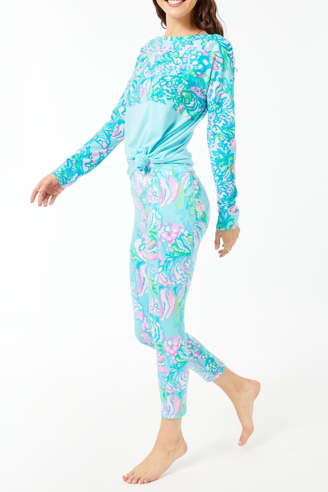 Lilly Pulitzer Weekender Midi Legging - Front Cropped Image