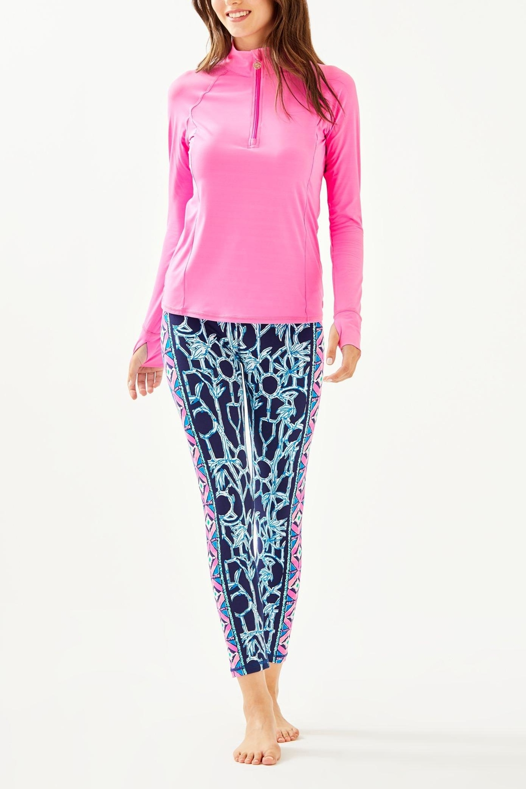 Lilly Pulitzer Weekender Midi Legging - Back Cropped Image