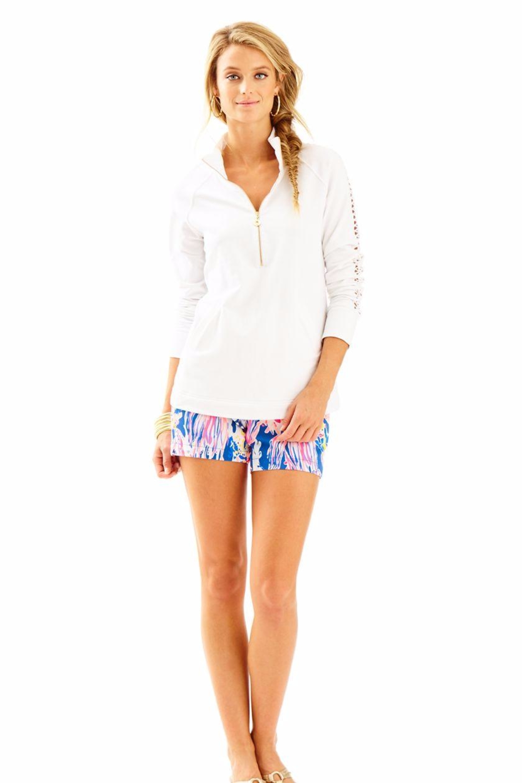 Lilly Pulitzer White Skipper Popover - Front Cropped Image