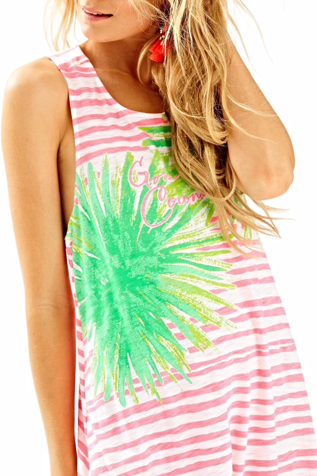 Lilly Pulitzer Striped Cover Up - Back Cropped Image