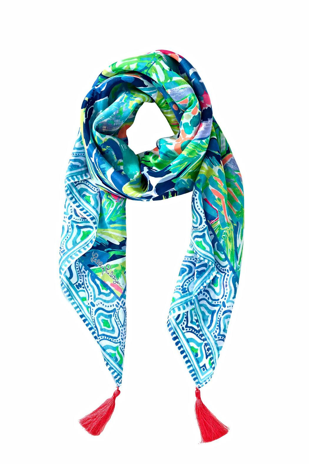 lilly pulitzer willa silk scarf from sandestin golf and