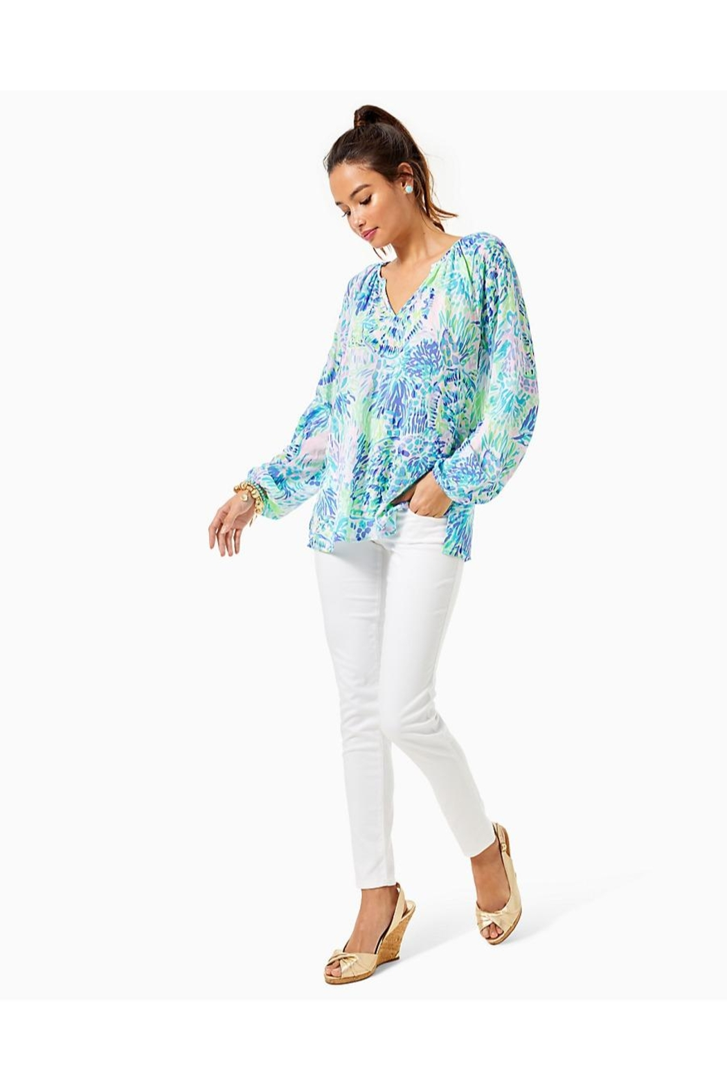 Lilly Pulitzer Willa Top - Side Cropped Image