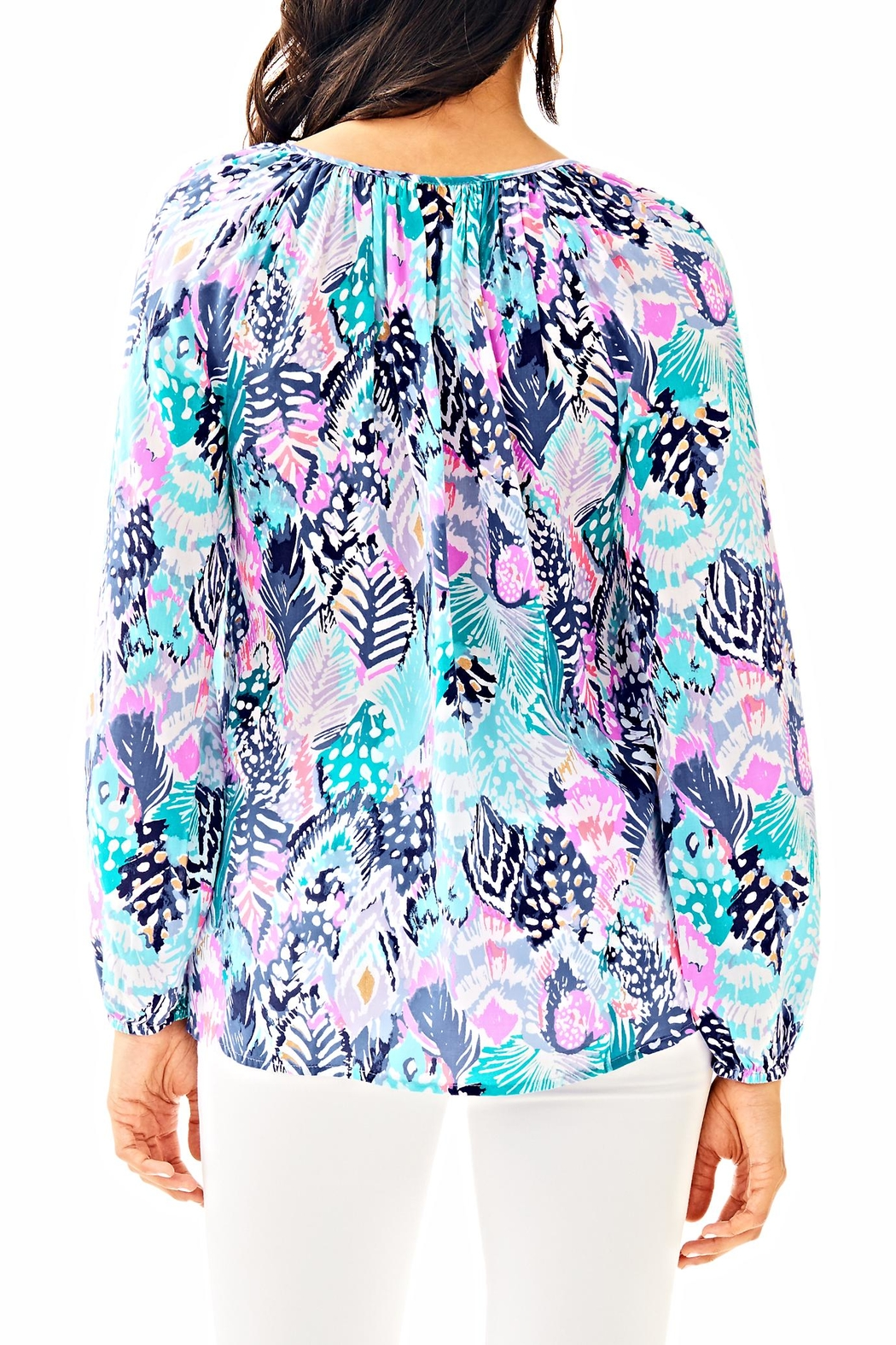 Lilly Pulitzer Willa Tunic Top - Front Full Image