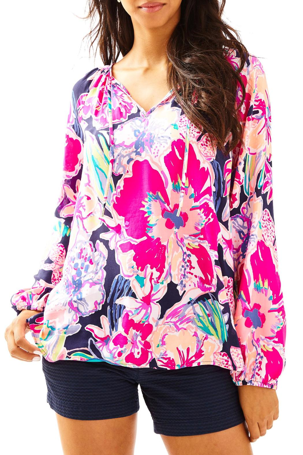 Lilly Pulitzer Willa Tunic Top - Front Cropped Image
