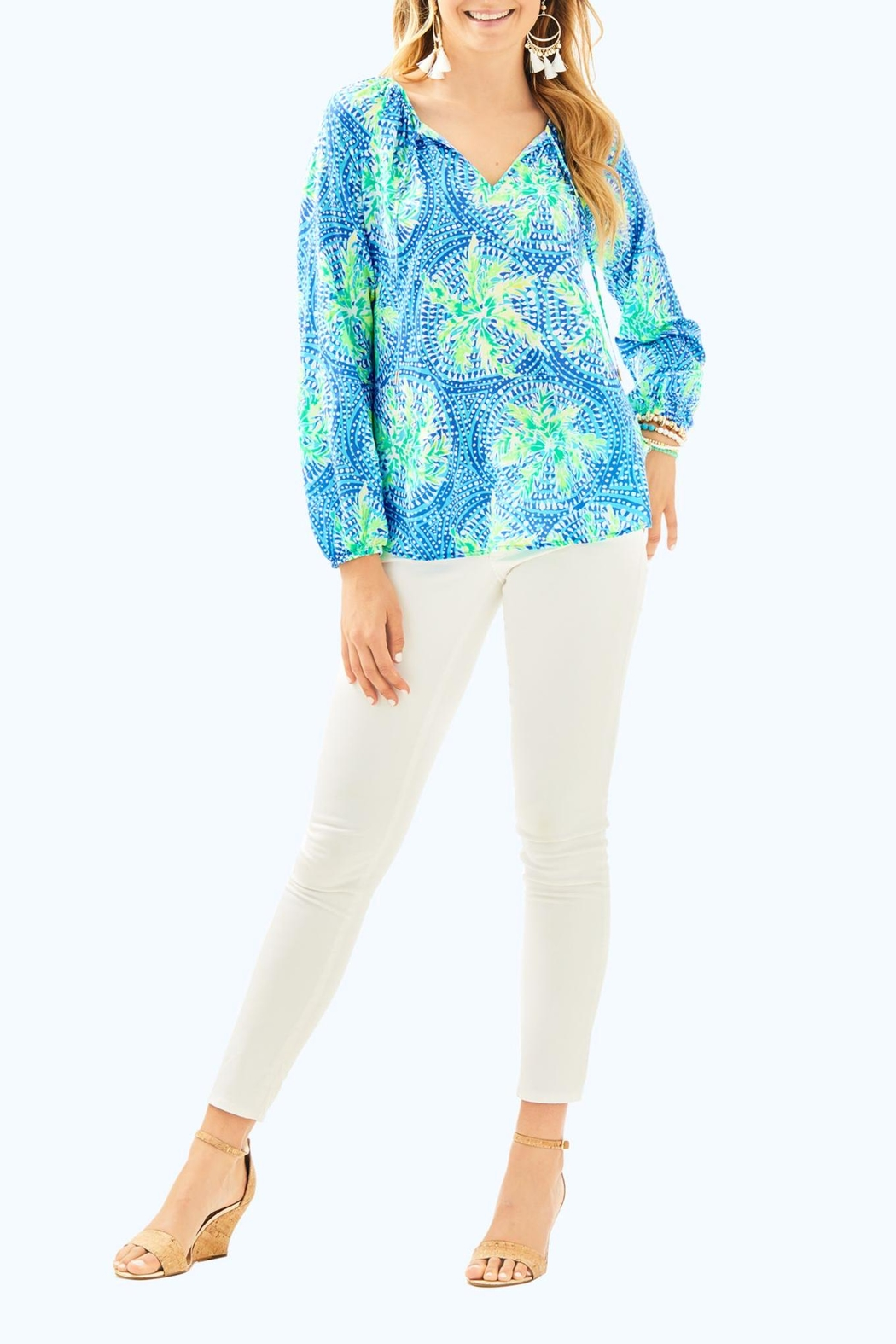 Lilly Pulitzer Willa Tunic Top - Side Cropped Image