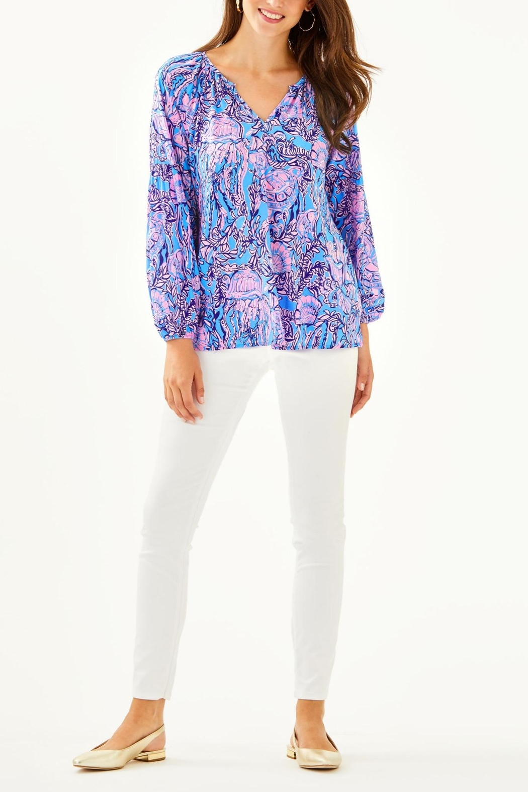Lilly Pulitzer Winsley Top - Side Cropped Image