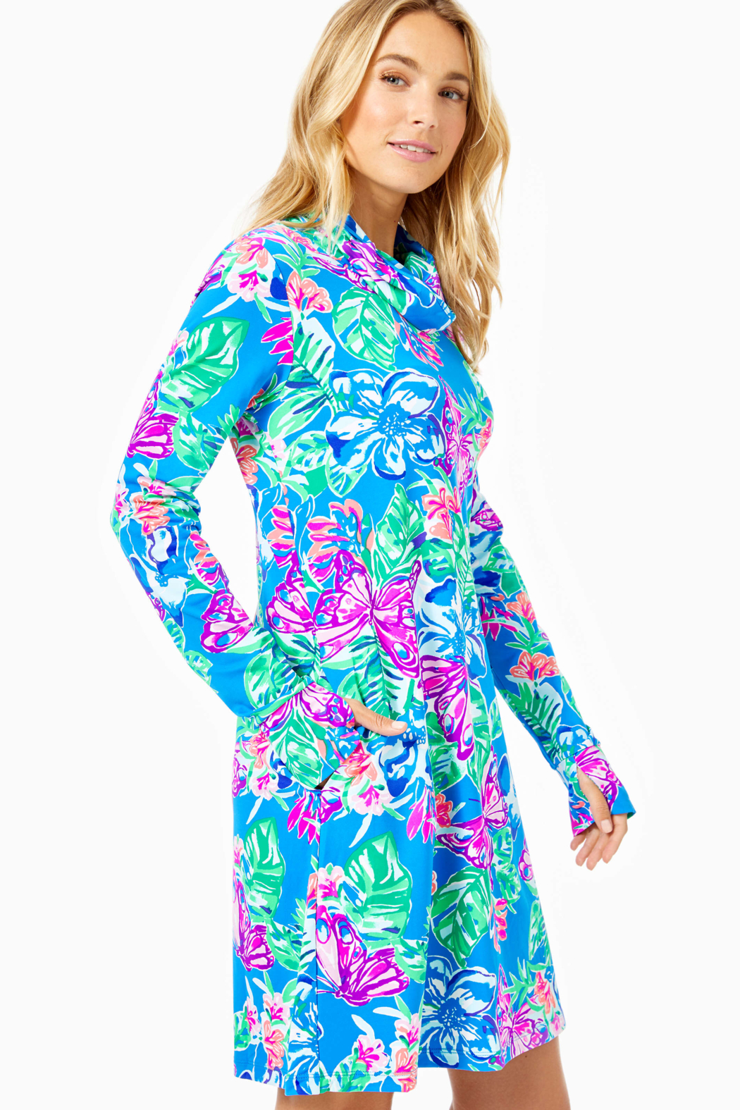 Lilly Pulitzer  Lilshield UPF 50+ Dress (built in mask) - Side Cropped Image