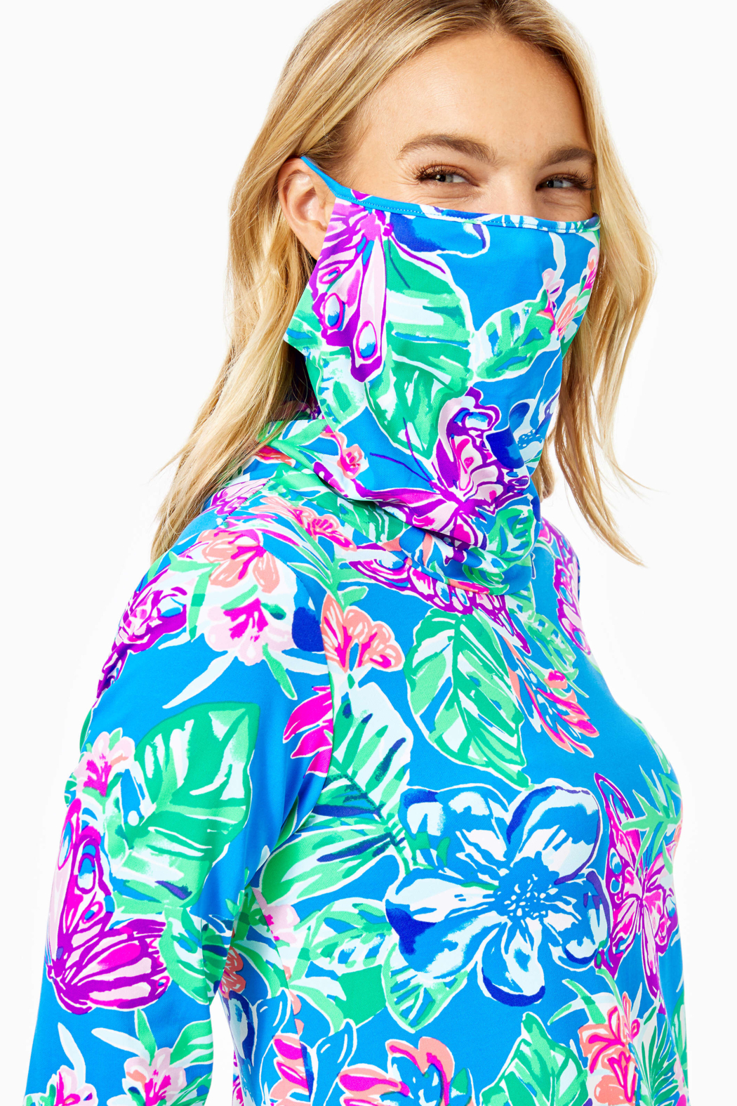 Lilly Pulitzer  Lilshield UPF 50+ Dress (built in mask) - Back Cropped Image