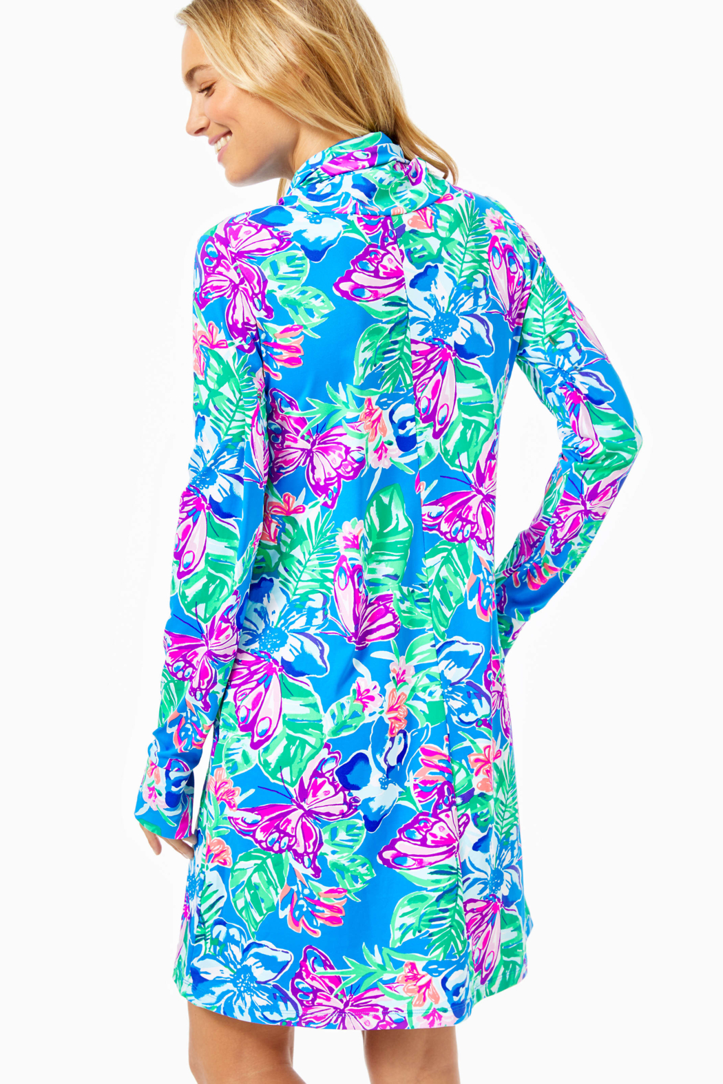 Lilly Pulitzer  Lilshield UPF 50+ Dress (built in mask) - Front Full Image