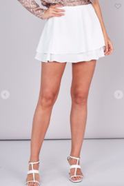Do + Be  Lily Double Layer Mini Skort - Front cropped