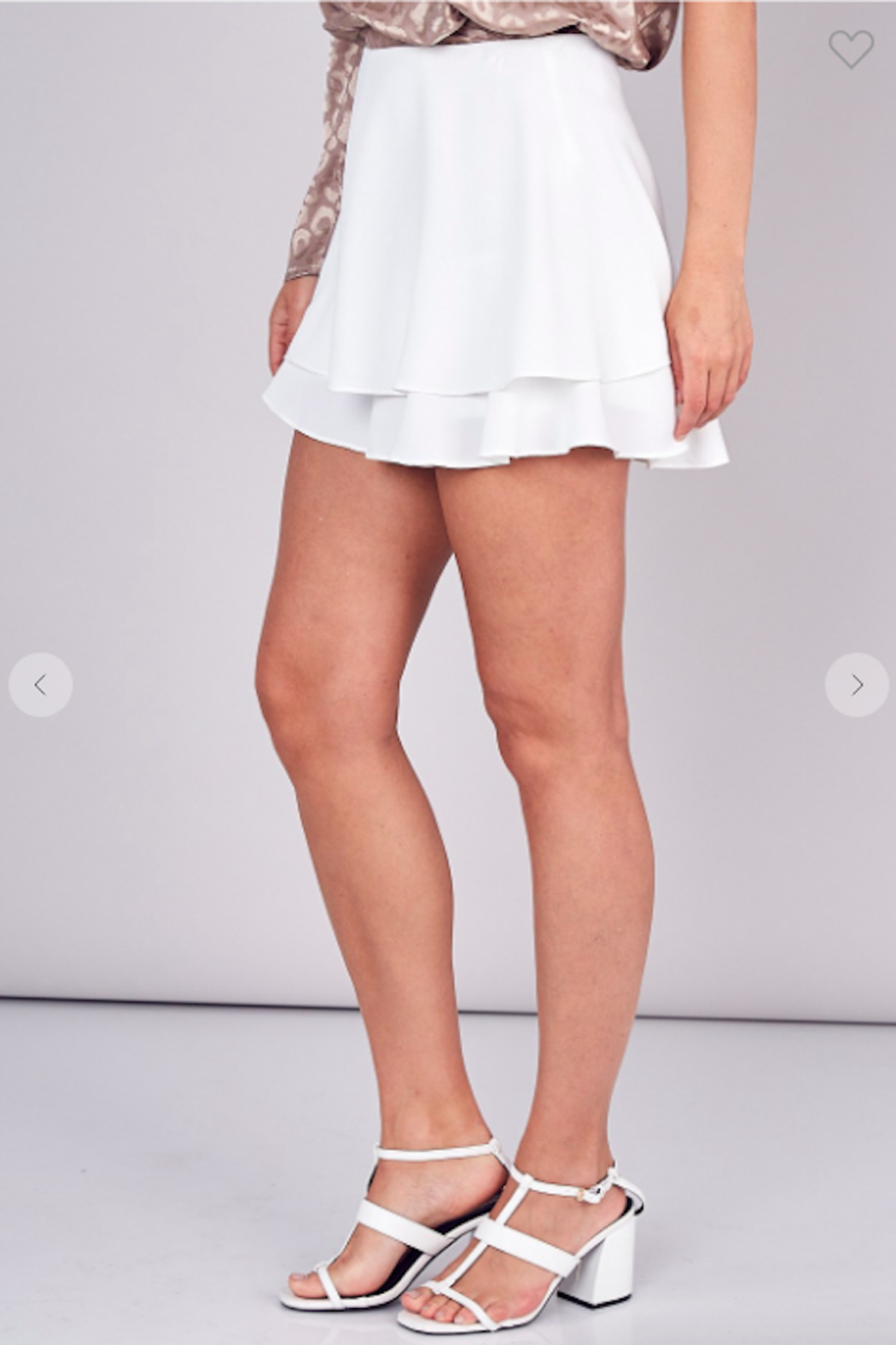 Do + Be  Lily Double Layer Mini Skort - Front Full Image