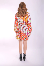 Traffic People Lily Fan Dress - Front full body