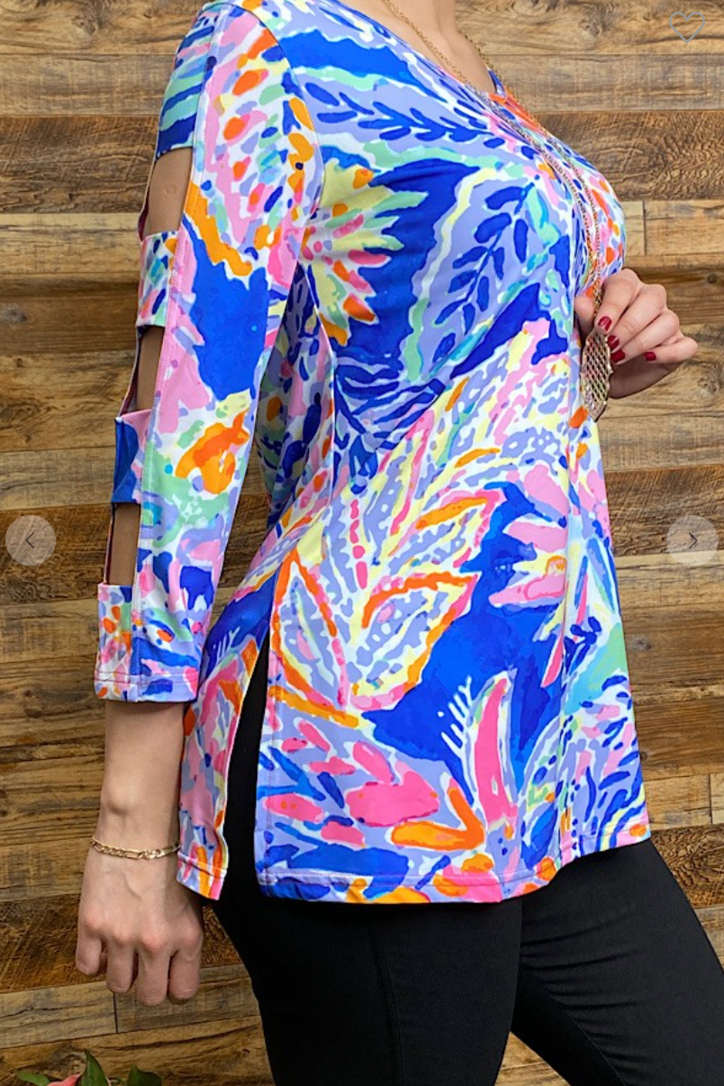 Lady's World Lily P Inspired Blouse - Front Full Image