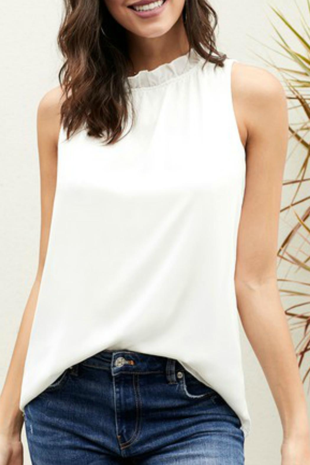 Lily Ruffle Neck Blouse - Main Image