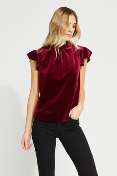 Gentle Fawn Lily Velvet Top - Product List Image