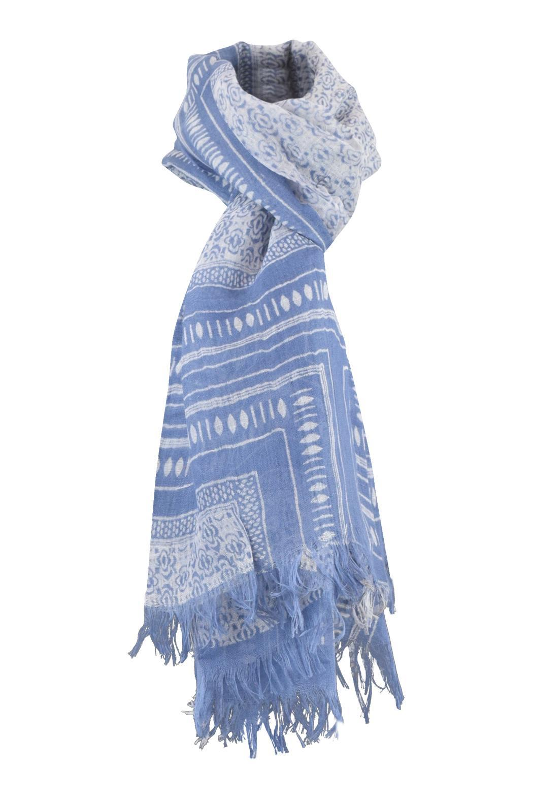 Lily and Lionel Blockprint Linen Scarf - Main Image
