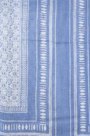 Lily and Lionel Blockprint Linen Scarf - Front full body