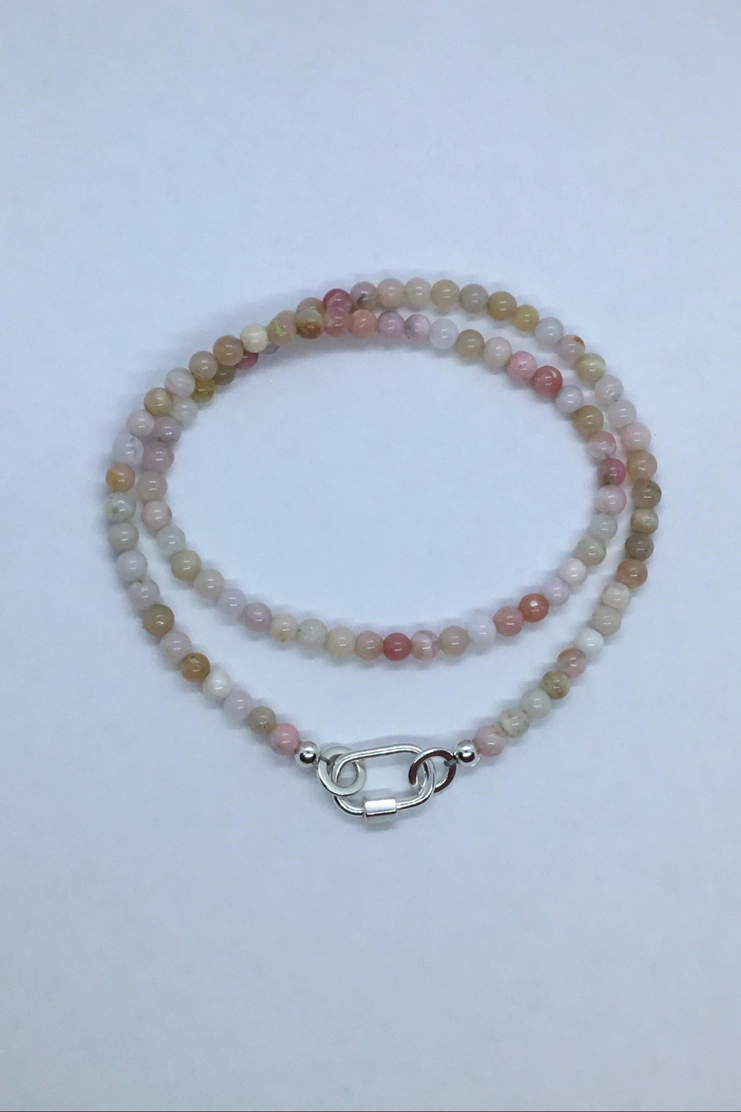 Lily Chartier Pearls Carabiner Charm Holder Necklace - Main Image