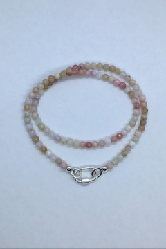 Lily Chartier Pearls Carabiner Charm Holder Necklace - Alternate List Image
