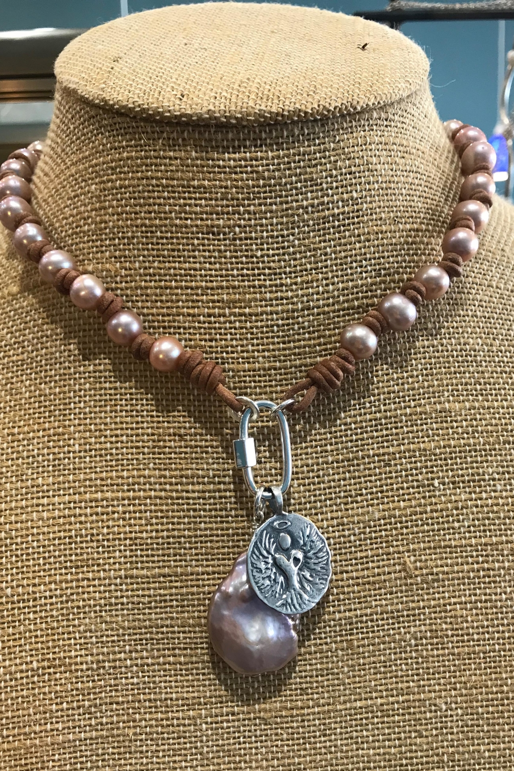 Lily Chartier Pearls Charm Necklace - Main Image
