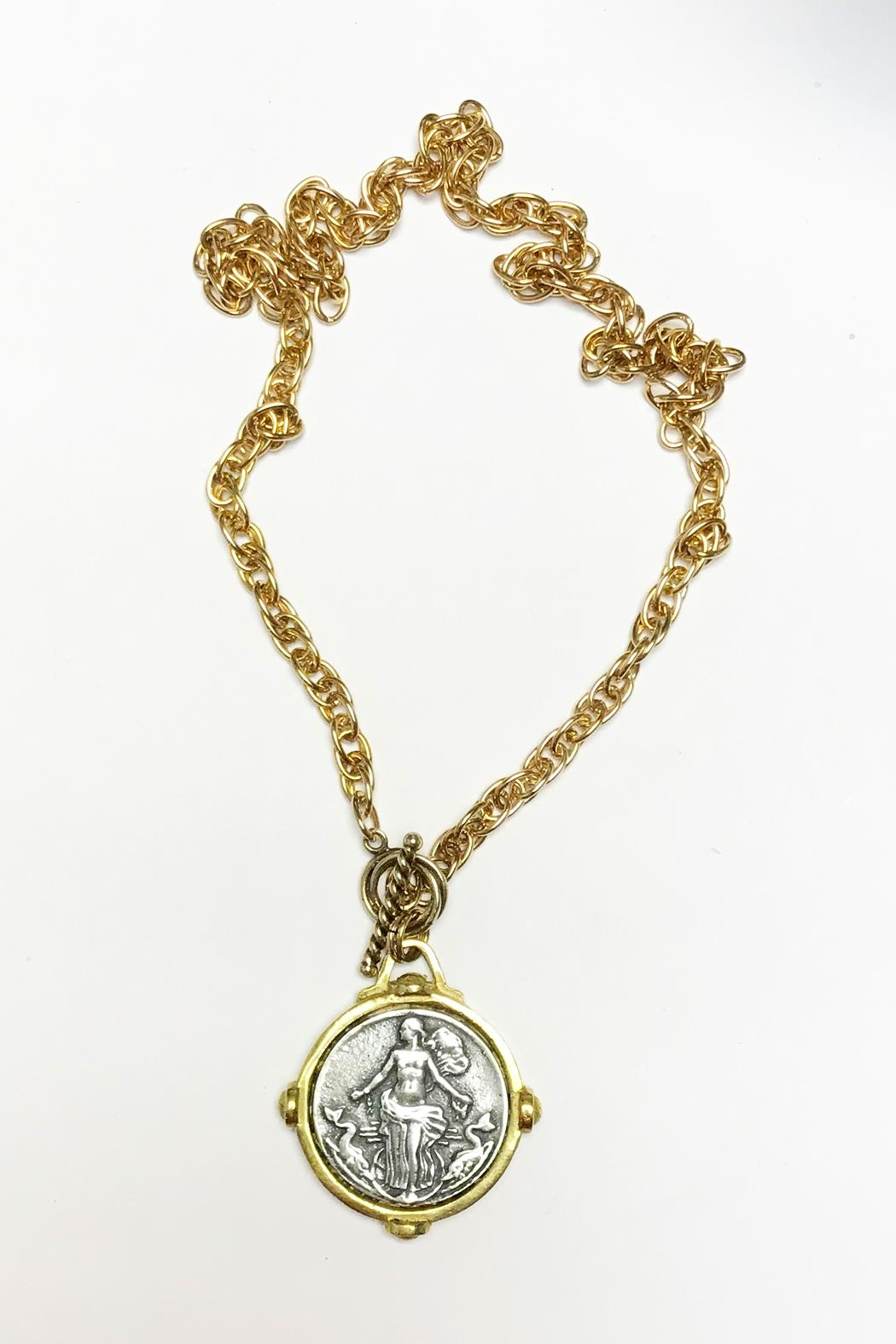 Lily Chartier Pearls French Medal Necklace - Main Image