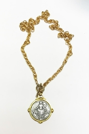 Lily Chartier Pearls French Medal Necklace - Product Mini Image
