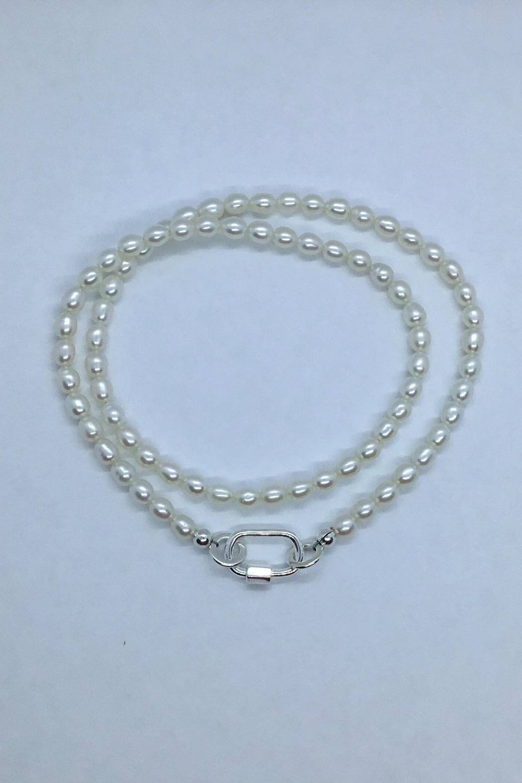 Lily Chartier Pearls Freshwater Pearls And Sterling Carabiner Necklace - Main Image