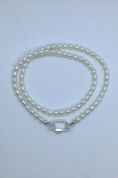 Lily Chartier Pearls Freshwater Pearls And Sterling Carabiner Necklace - Alternate List Image
