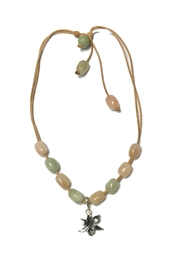 Lily Chartier Pearls Morganite Orchid Necklace - Front cropped