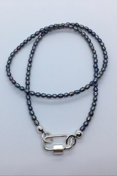 Shoptiques Product: Pearl Carabiner Necklace