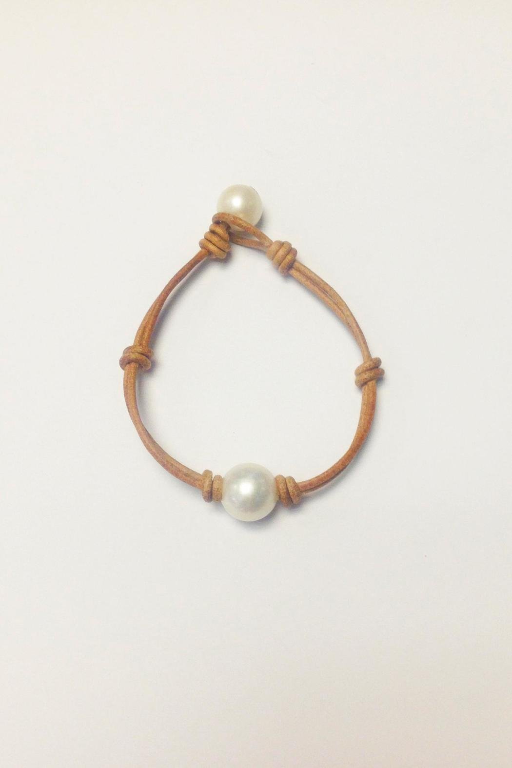 Lily Chartier Pearls Pearls And Leather Bracelet - Main Image