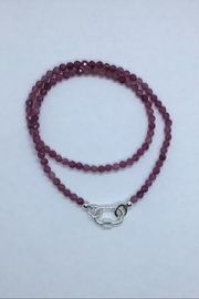 Lily Chartier Pearls Sterling Carabiner And Raspberry Tourmaline Necklace - Product Mini Image