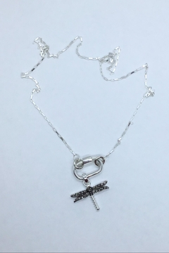 Lily Chartier Pearls Sterling Paperclip Chain Plus Carabiner And Dragonfly - Alternate List Image