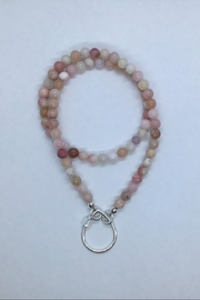 Lily Chartier Pearls Sterling Silver Carabiner And Peruvian Opal Necklace - Product Mini Image