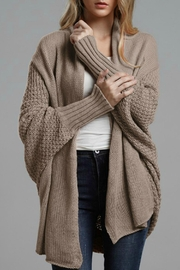 lily clothing Vanessa Ribbed Cardigan Sweater - Product Mini Image