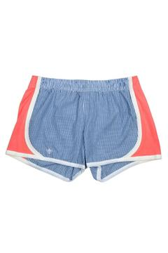 LILY GRACE Navy Seersucker Shorts - Product List Image