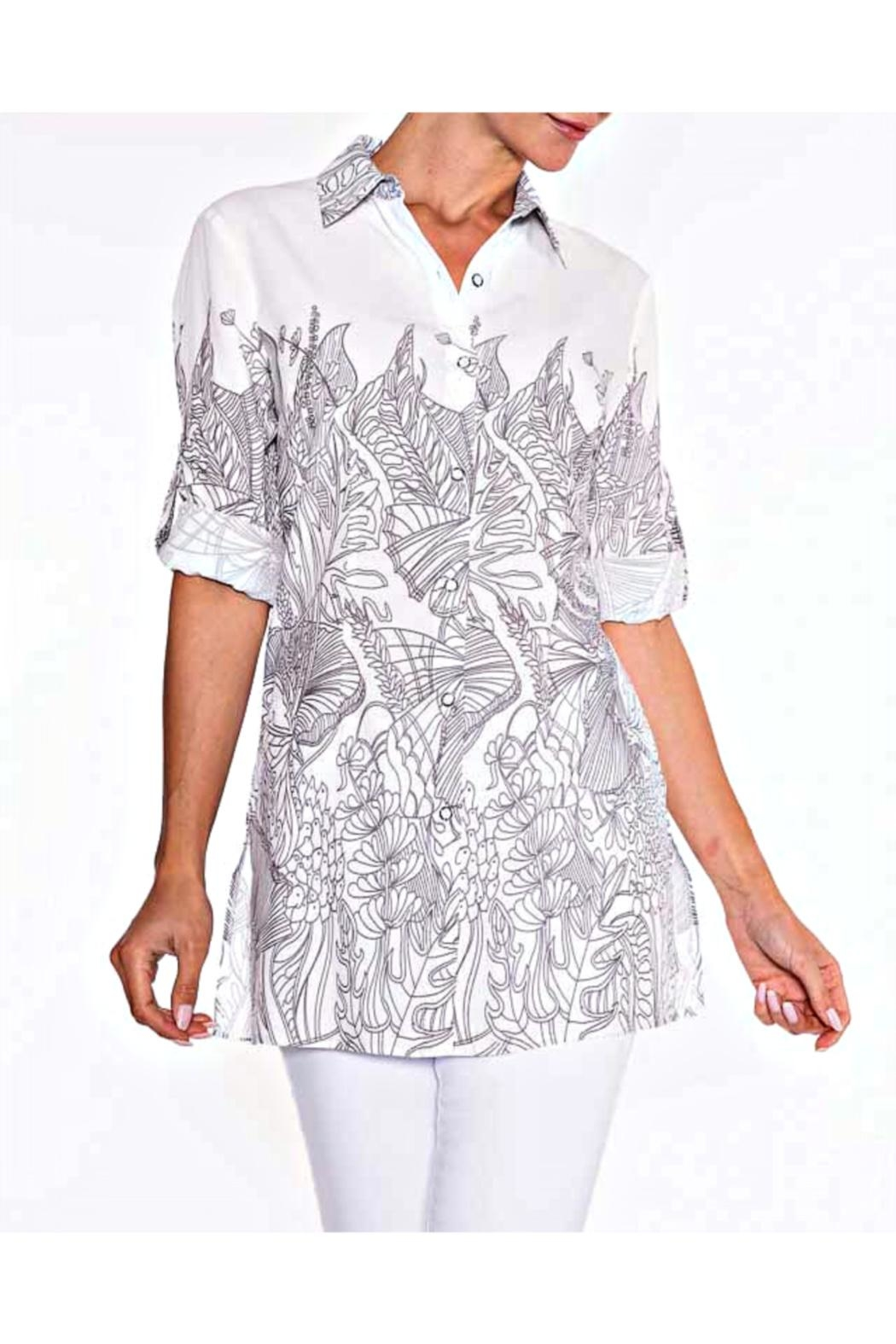 Lily Moss Floral Outline Blouse - Main Image