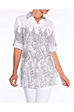Lily Moss Floral Outline Blouse - Alternate List Image