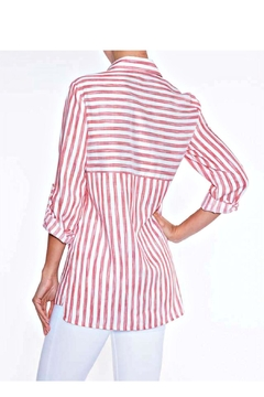 Lily Moss Red Striped Blouse - Alternate List Image