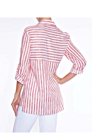 Lily Moss Red Striped Blouse - Front full body