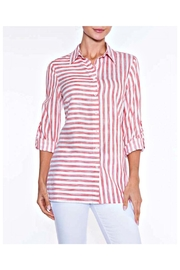 Lily Moss Red Striped Blouse - Product Mini Image