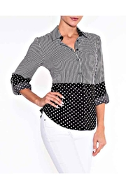 Lily Moss Stripe And Dot Blouse - Front cropped