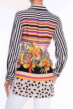 Lily Moss Striped Floral Blouse - Alternate List Image